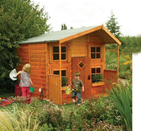 Your children will love playing in this Rowlinson's Hideaway House and it has been designed with them in mind.
